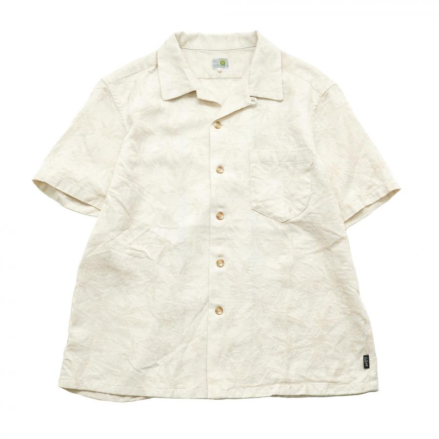 OPEN MIND SHIRTS/HEMP LEAF JACQUARD