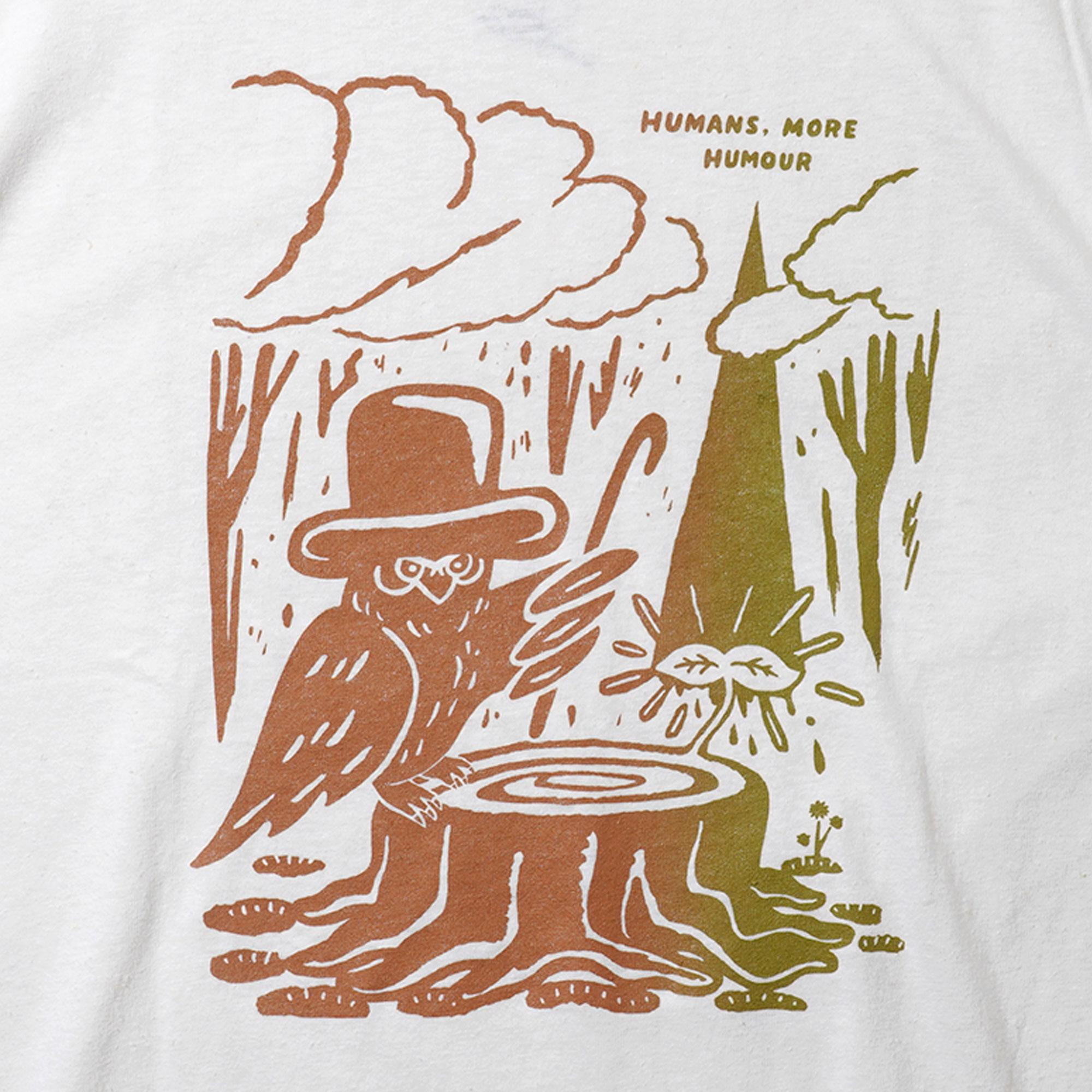 """Humans, more Humour.""<br>by KOJI MAYUMI<br>SHORT SLEEVE TEE"