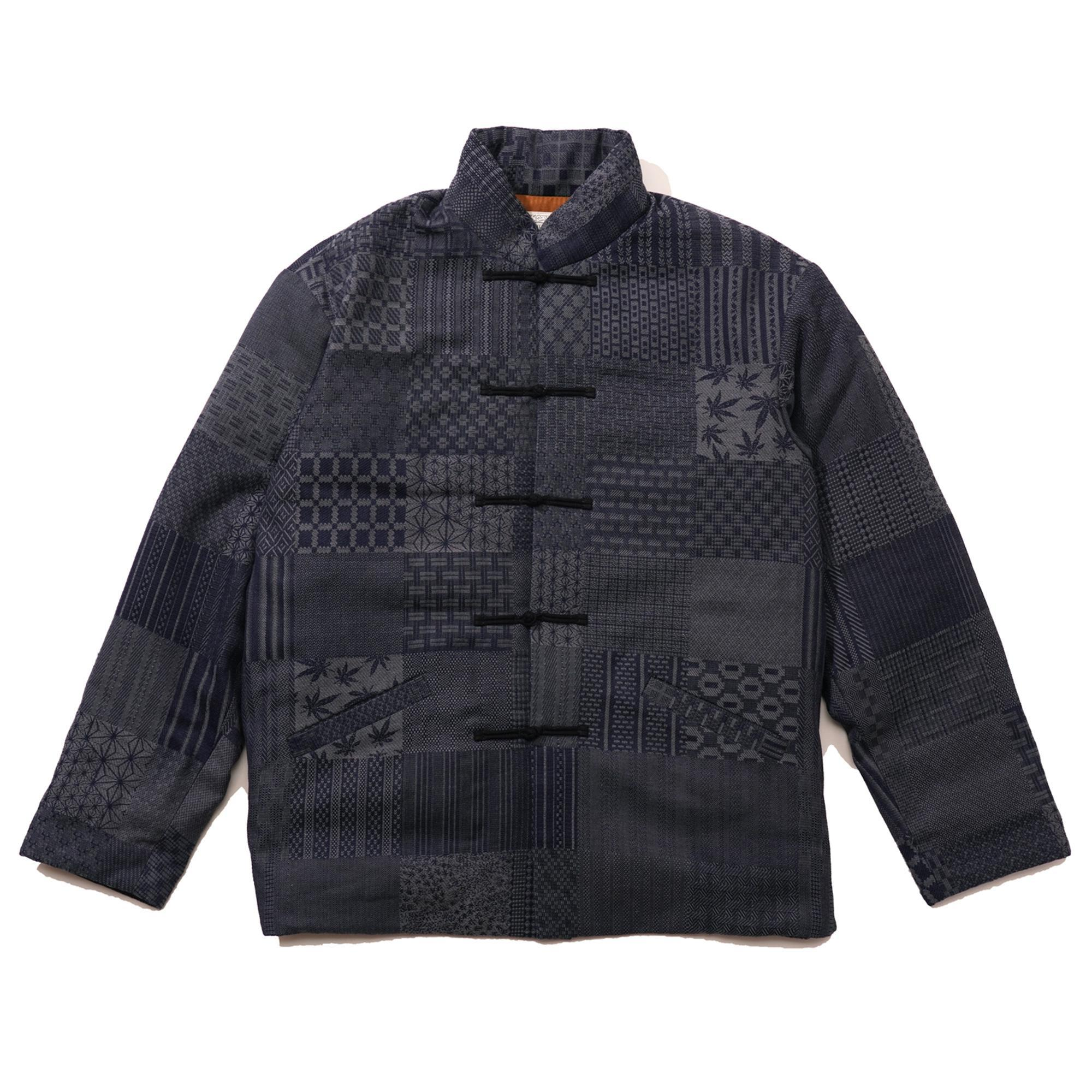 TONG POO DOWN JACKET/JAPANESE PATTERN PATCHWORK