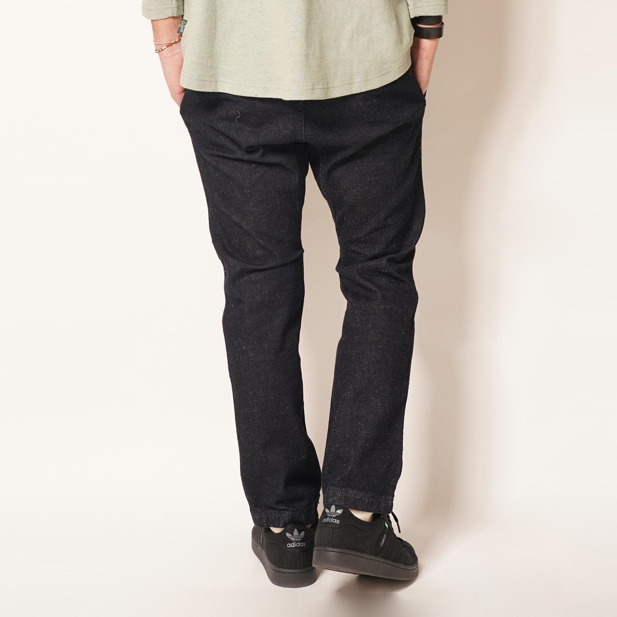SLIM RIB PANTS/ONE WASH