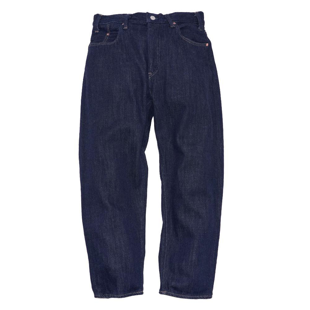 LOOSE TAPERED PANTS/Washed Loose Drill Denim