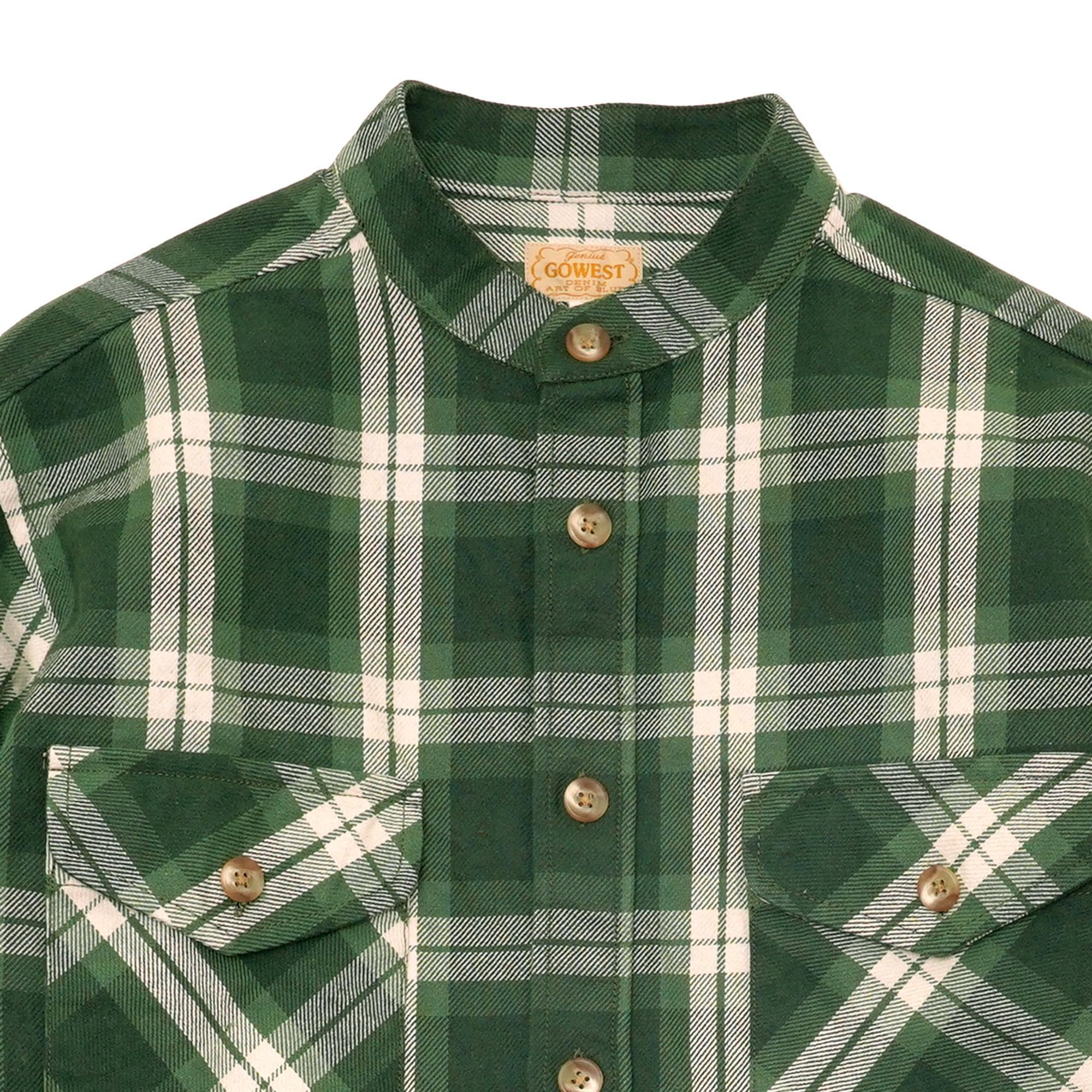 BAND ON THE SHIRTS/HEAVY COTTON FLANNEL CLOTH