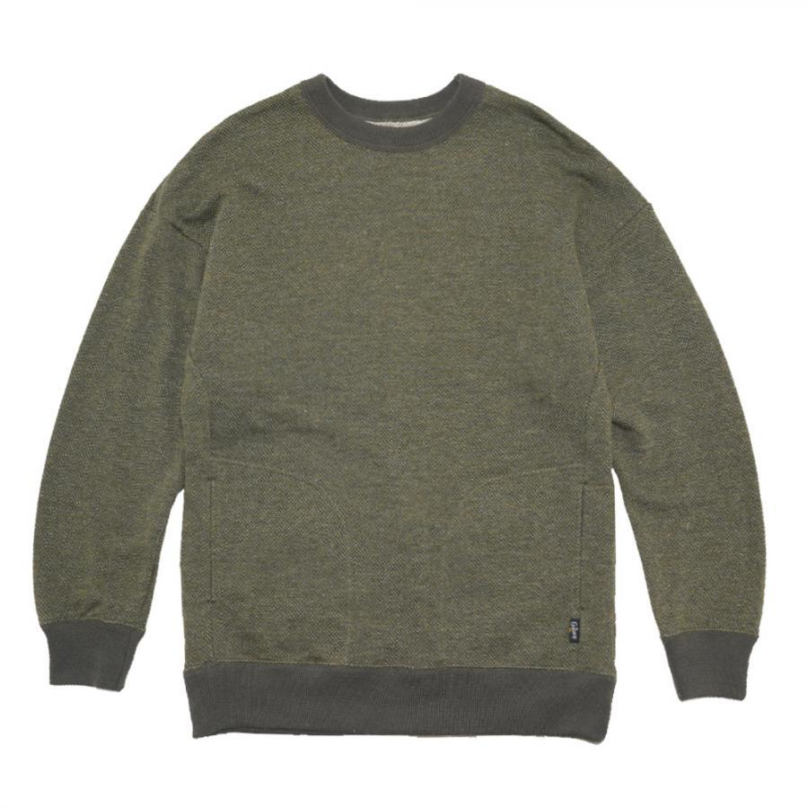 NO SIZE CREW/TWEED HERINGBORN SWEAT