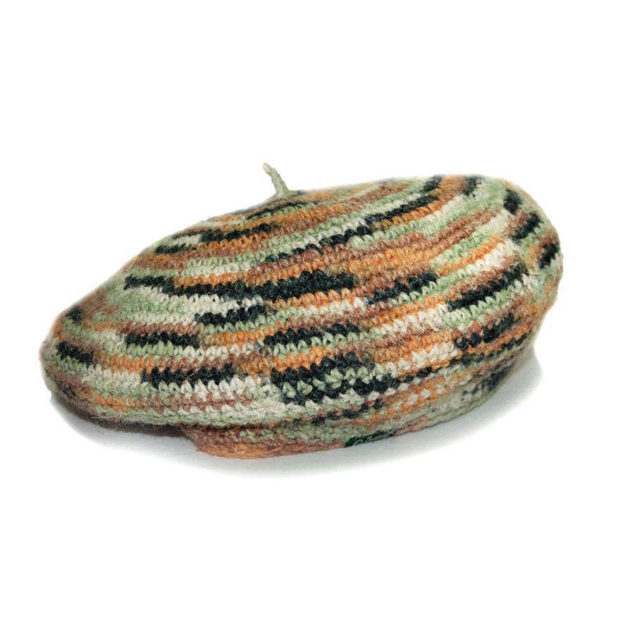 POKALI BERET/HEMP WOOL MIX