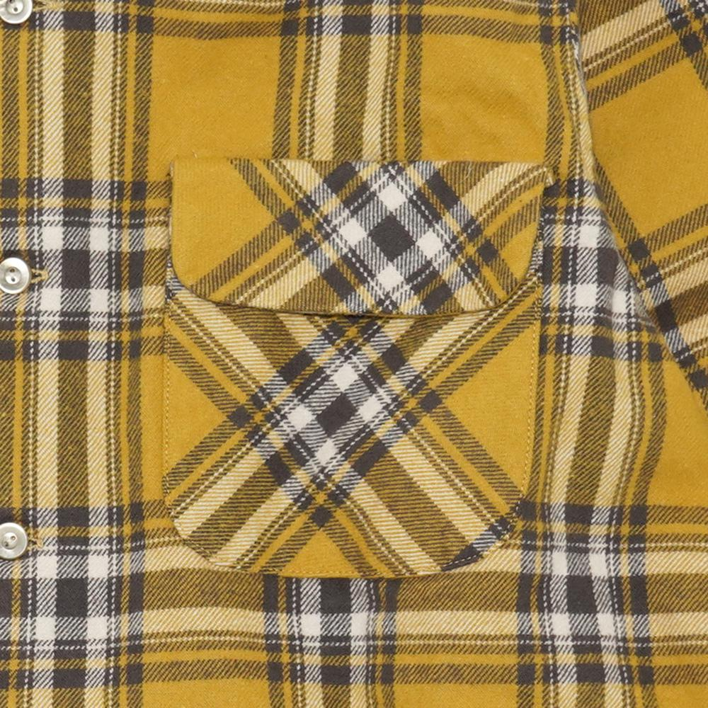 OUT OF BORDER SHIRTS/Fleece Lined Heavy Twill Check