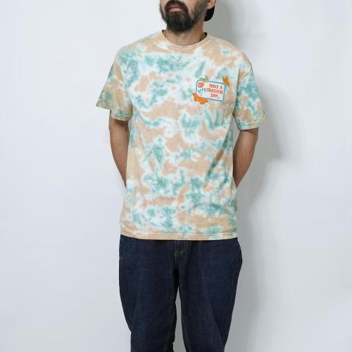 GRATEFUL DAY TIEDYE T-SHIRTS -BUTTER