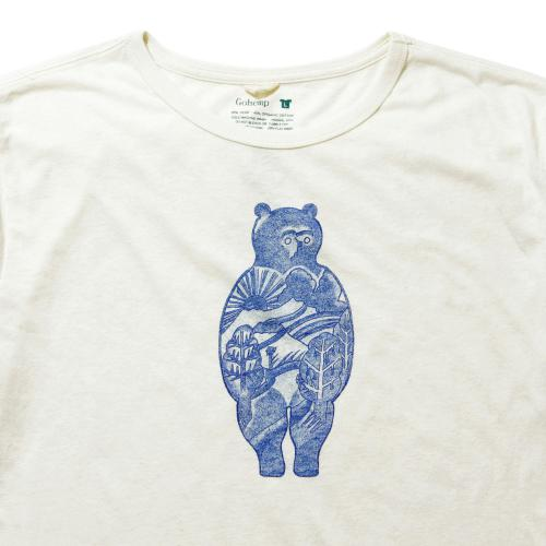 """Hello nature,Salmon vs Bear""<br>by BeBe SHORT SLEEVE TEE"