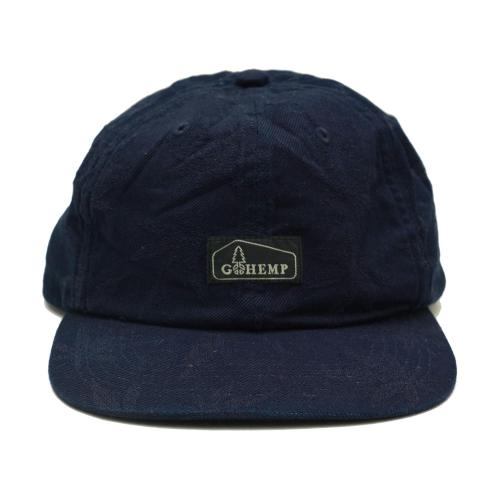 HEMP LEAF 6PANEL CAP/HEMP LEAF JACQUARD
