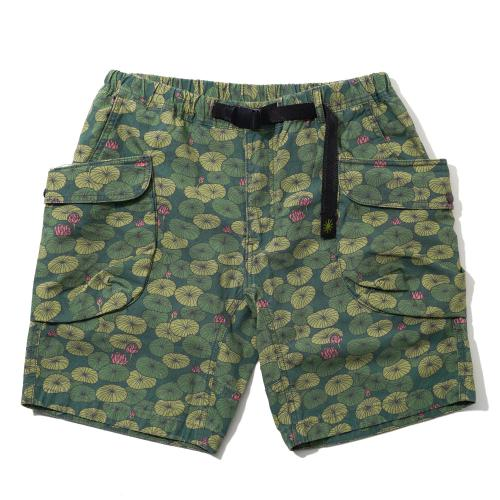 "HEMP UTILITY SHORTS/H/C WEATHER ""LOTUS PRINT"""