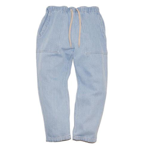 BAKERS BANQUET PANTS/Washed Loose Drill Denim