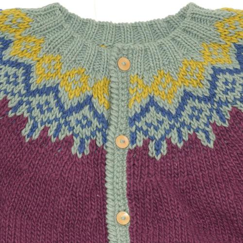 ESCAPE HAND KNIT CARDIGAN/PERU  KNIT